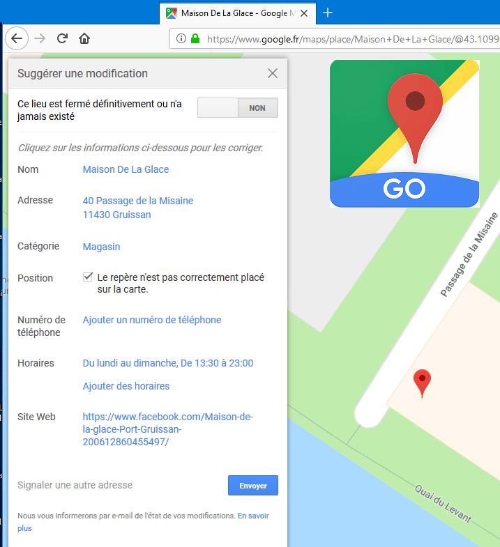 maison glace Go Maps